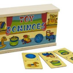 Домино дървено с играчки
