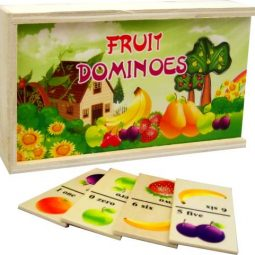 Домино дървено с плодове - Артикулен № 270708