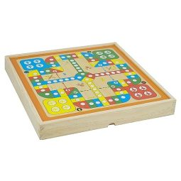 Комбинирана магнитна игра, Пъзел, В дървена кутия - Артикулен № 270218