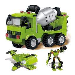 Конструктор 3 в 1 Бетоновоз, Робот, Животно от 306 елемента - Артикулен № 270610