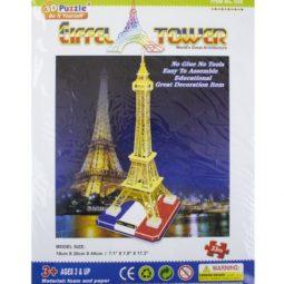 Пъзел 3D Айфелова кула от 33 части - Артикулен № 270106