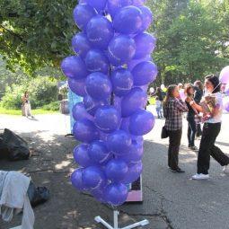 Стойка за балони с въздух под наем