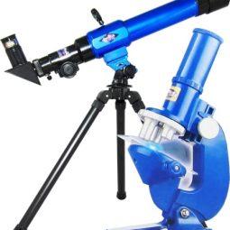 Телескоп с компас, триножник, микроскоп и аксесоари к-кт - Артикулен № 150309