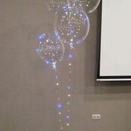 прозрачни балони с лампички led bubble