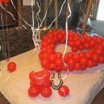сърце от балони