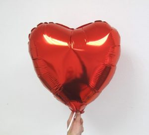Балон сърце фолиев