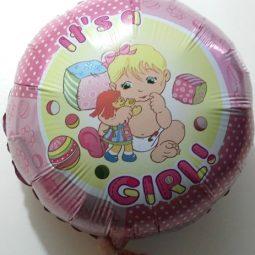 Балони за новородено момиче фолиеви