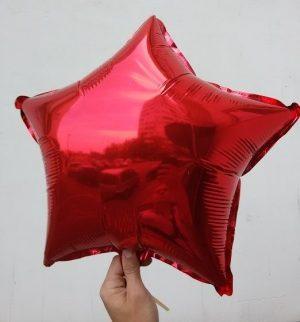 Балони звезди фолиеви червени