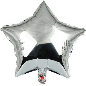 Балони звезди фолиеви сребристи