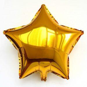 Балони звезди фолиеви златни