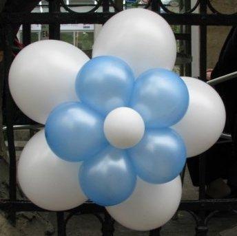 Цвете от балони - 11 балона.