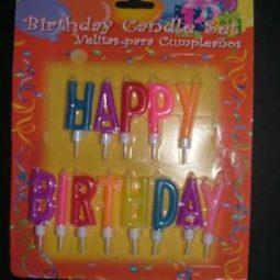 Свещички за рожден ден ''Happy Birthday''